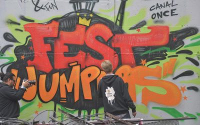 """Fest Jumpers Logo"" – Show Painting at YAAM GALLERY"